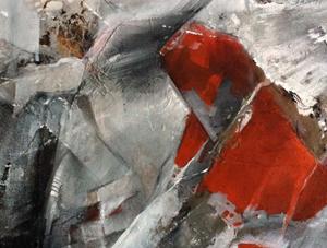 abstraktschwarzweissrotingerauscher